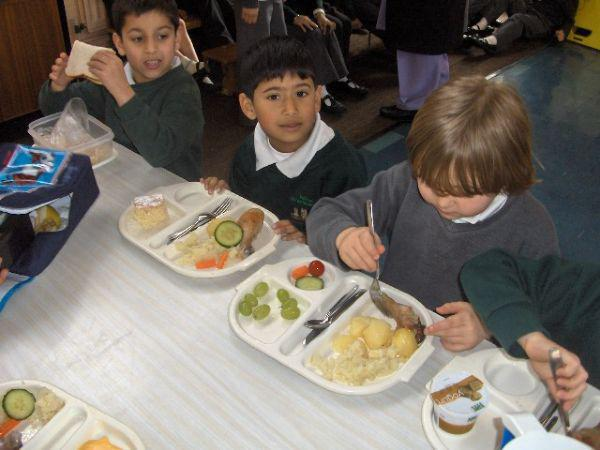 Children are expected to use table manners.