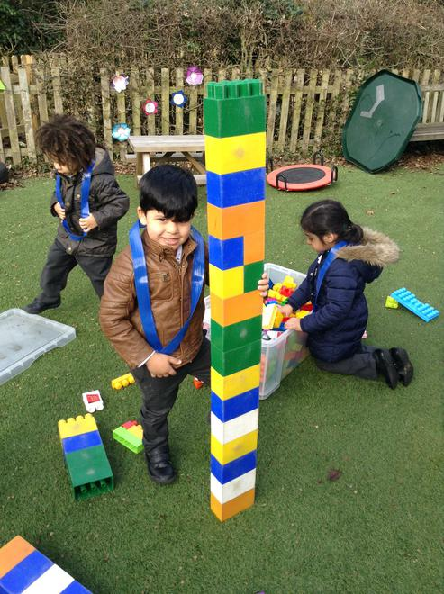 A tower taller than us!