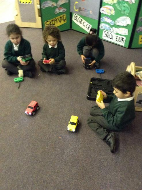 Controlling the remote control cars was fun!