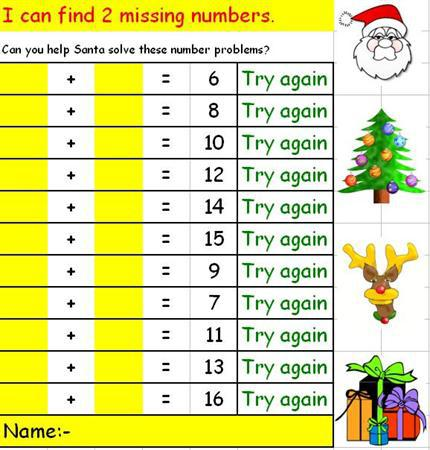 1) Can you find 2 missing numbers?