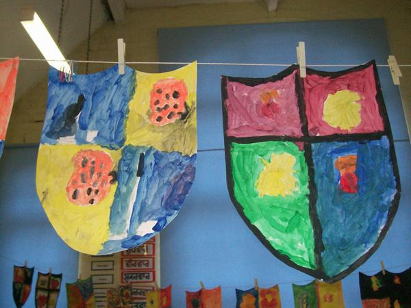 Colourful shields