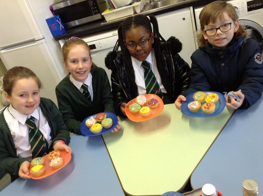 Look at our yummy cakes.