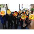 Making lion masks linked to How to be a Lion