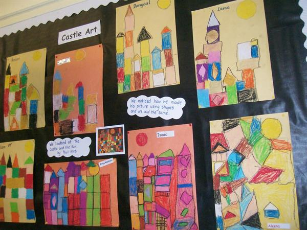 Castles created using the cubist style.