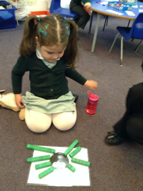 Making 8 legs for the spider.