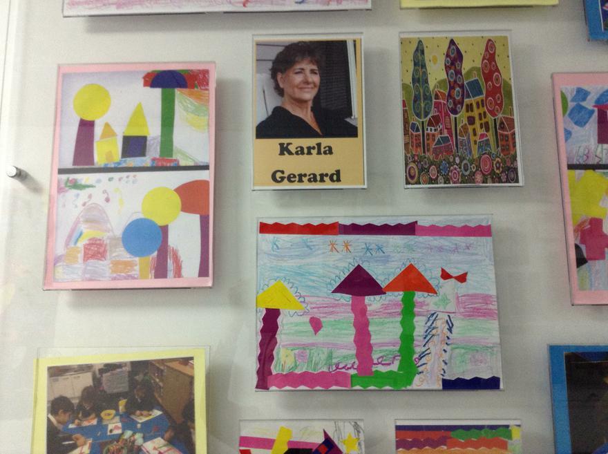 Yr1 art work inspired by Karla Gerard