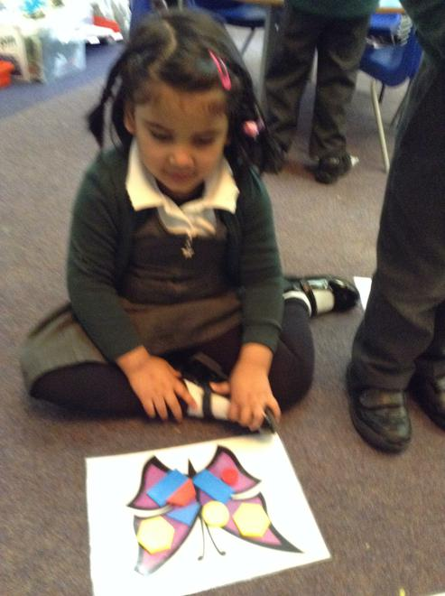 Wow! A symmetrical butterfly.