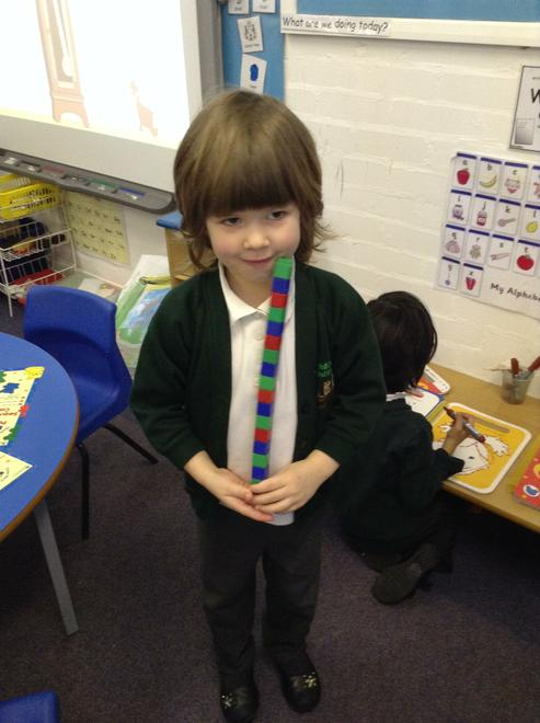 A repeating pattern using three colours.