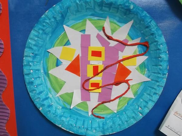 A wonderful mosaic inspired by the work of Gaudi.