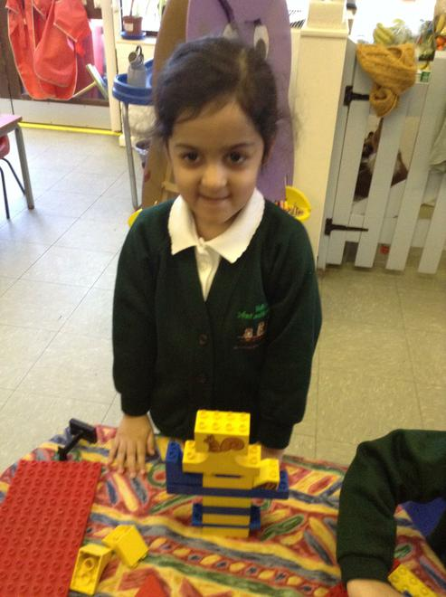 Making a repeating patterned tower.