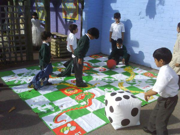 We play 'Snakes and Ladders'!