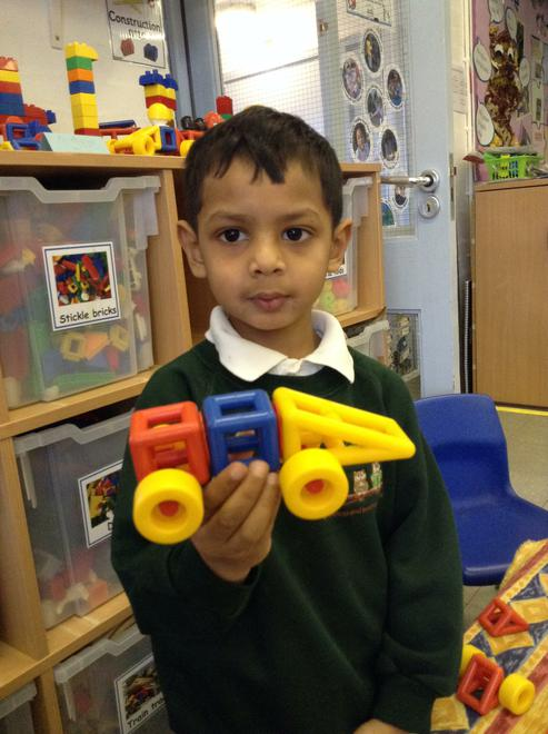 A fabulous racing car for Mr Gumpy.