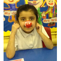I liked my red nose.