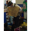 We looked at his treasure map.
