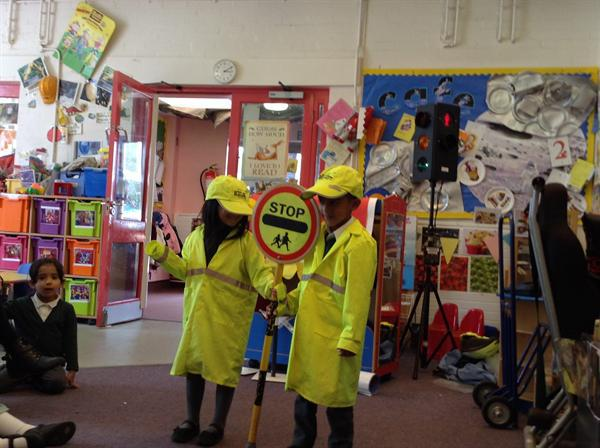 We had an important lesson about road safety.