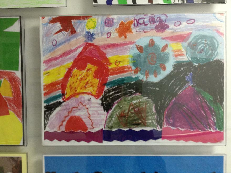 Yr1 pastel work inspired by Karla Gerard