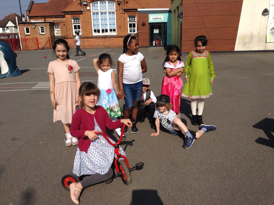 We are wearing special clothes for Vaisakhi.