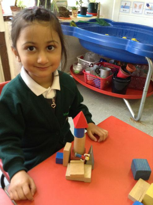We built a house from building blocks.