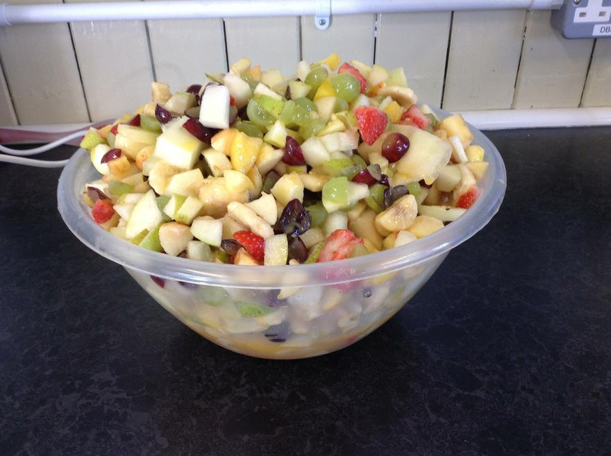 Look at our delicious fruit salad.