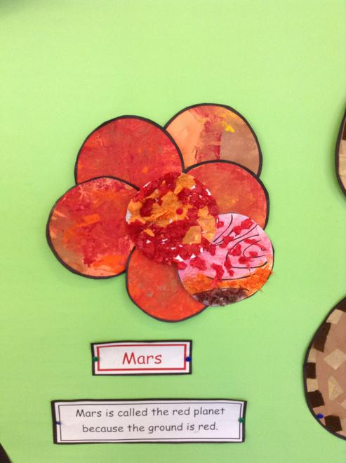 Look at the different tones of orange and red.