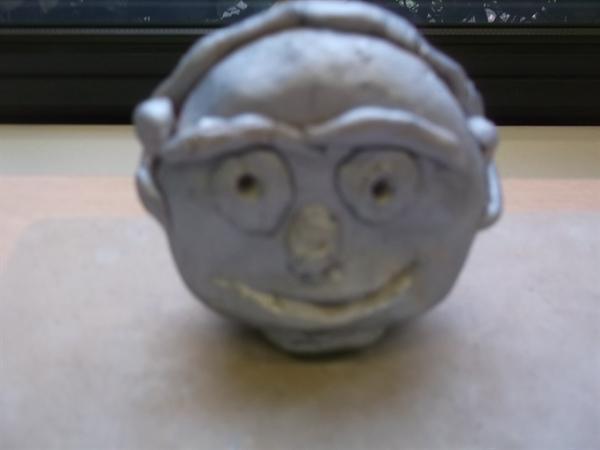 A fantastic head sculpture