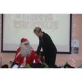 Mrs Lates helped Santa.