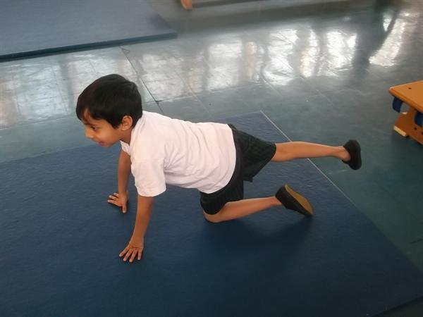 We can use body tension to hold shapes.