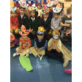 We told the story of Rama and Sita.