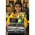 I made a model of the Solar System at home.