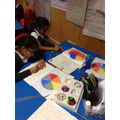 The children made the colour wheel.