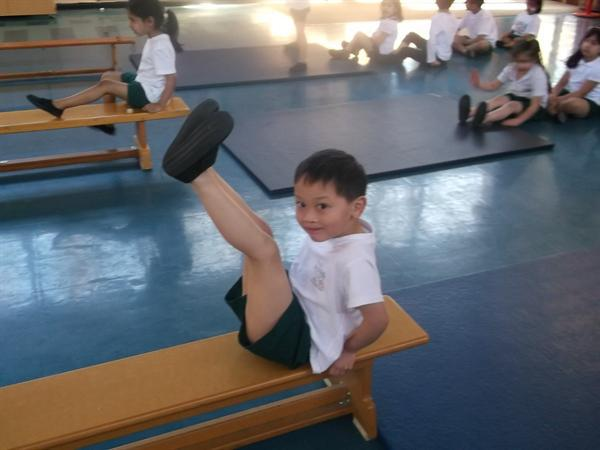 We can experiment with balance in gymnastics.