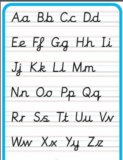 Have a go at writing all of the lower and upper case letters neatly and carefully
