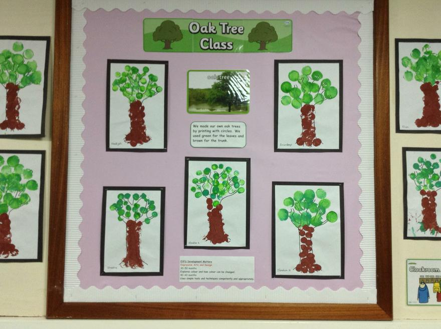 Oak tree Class have printed their trees.