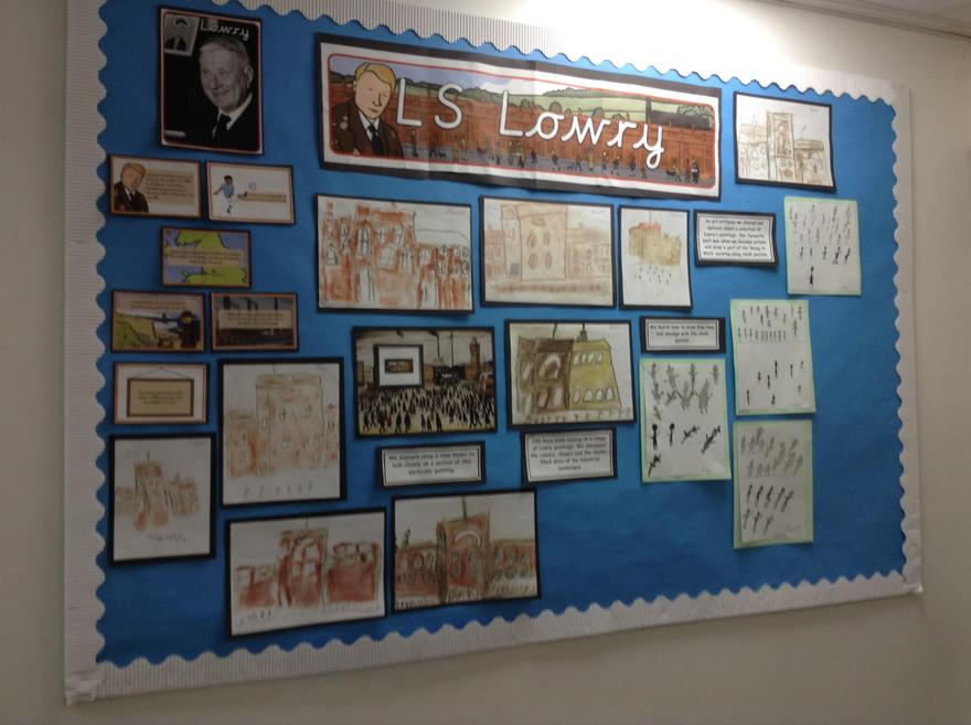 L.S Lowry corridor display