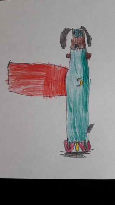 Cecil the super sausage dog drawn by Charlie C