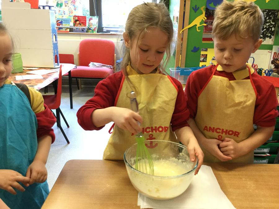 MD- Measuring pancake ingredients