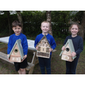 A parent has generously donated two new bird boxes and a bug hotel to the school.