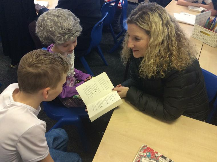 We enjoyed sharing books.
