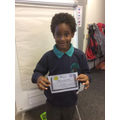 Celebrating achieving Handwriter of the week