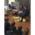 Finding out about Guide Dogs for the Blind.