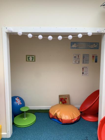 Calm corner in our sensory room