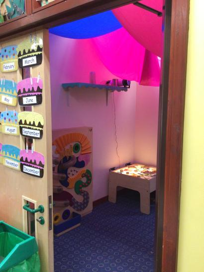 Our quiet area and sensory room