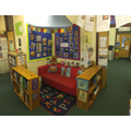 Get comfy and relax in our reading corner