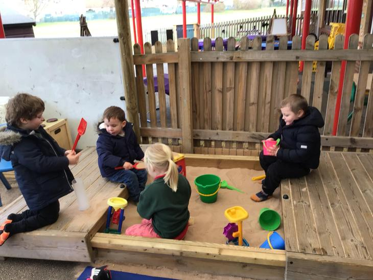 Our sand pit is a firm favourite with our children