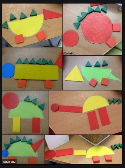 Can you make some dinosaurs using different shapes?