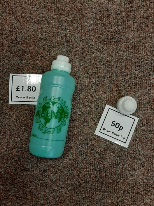 Water bottle £1.80 - Spare cap 50p