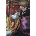 Clarabelle Cow is playing the harp.