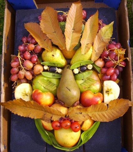 You could even make your own Archimboldo face using real fruit and vegetables.