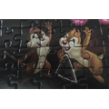Chip and Dale are playing the triangle.