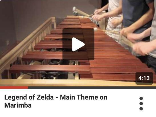 Legend of Zelda - main theme on the Marimba
